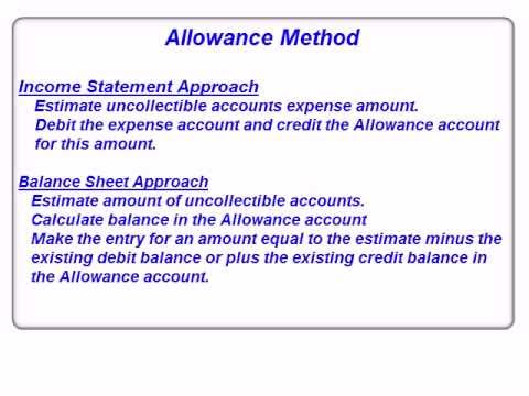 uncollectable accounts Allowance for uncollectible accounts 1600 if, however, there had been a debit balance of $200 then a credit to allowance for uncollectible accounts of $2,000 would be necessary to bring the closing balance to $1,800.