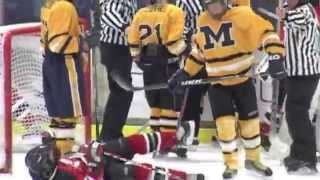 Meridian High School Hockey Game, Deke, Hits, and almost Fight