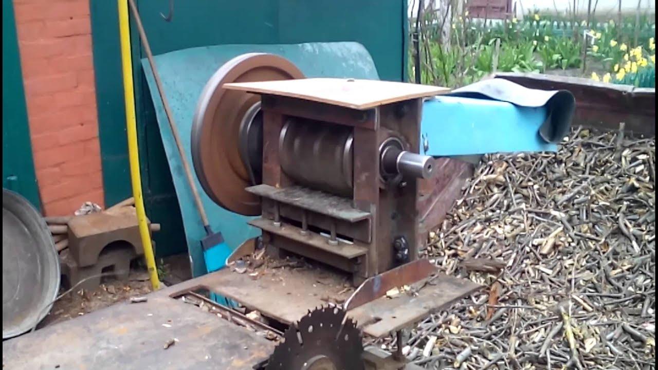 Как сделать дробилку для веток