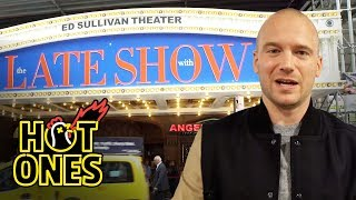 Sean Evans Goes to The Late Show With Stephen Colbert | Hot Ones Extras by : First We Feast