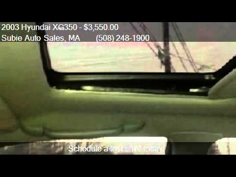 2003 Hyundai XG350 L for sale in CHARLTON, MA 01507 at Subie