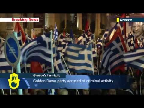 Greek far-right party Golden Dawn holds Athens rally in post-crackdown show of strength