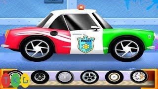 Xe Cảnh Sát - Police Car   Dịch Vụ Sửa Chữa Rửa Xe   TopKidsGames (TKG) 279