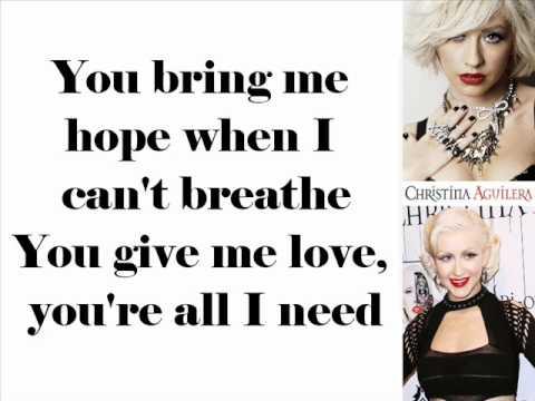Christina Aguilera - All I Need