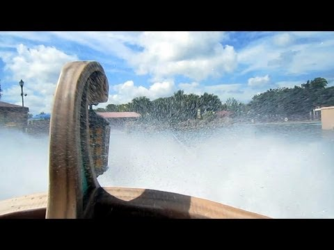 Journey To Atlantis front seat on-ride HD POV SeaWorld San Antonio