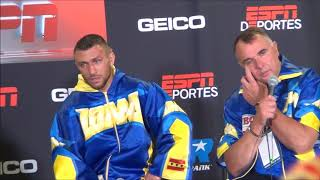 Vasyl Lomachenko - Jorge Linares Post Fight Press Conference