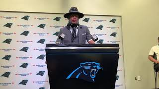 Full Cam Newton Panthers vs Rams Postgame Press Conference