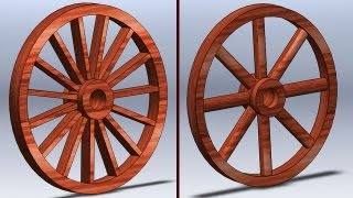 SolidWorks P Tutorial #93: Wooden Wheel (flexible)