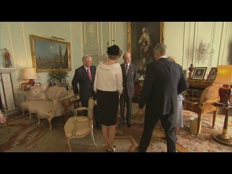 The Queen meets the Belgian royals