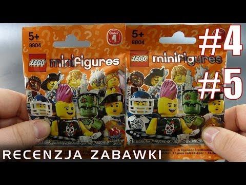 Tajemnicze Ludziki Lego z Saszetki #4 i #5 - polska recenzja zabawki - Lego Minifigures Series 4