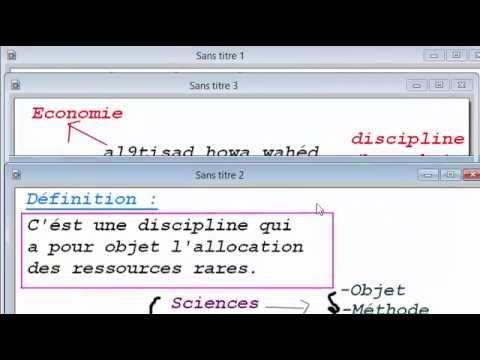 Economie : Introduction (Définition Part 3) Darija