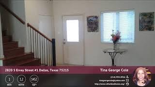 2820 S Ervay Street #1 Dallas, Texas 75215 | No HOA F | QuickTours.net