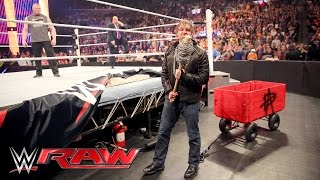 Dean Ambrose interrupts Brock Lesnar & Paul Heyman to pick some