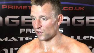 Luke Sines post fight Cage Rage uk 22