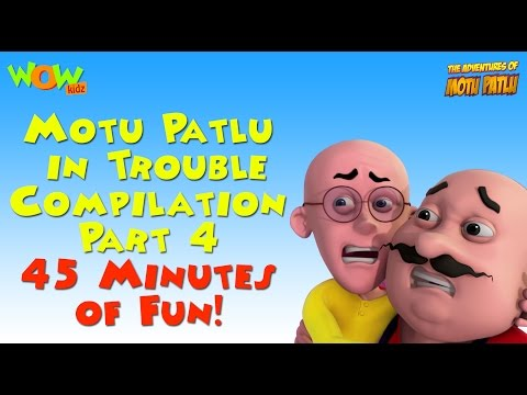 Motu Patlu in Trouble - Compilation Part 4 - 45 Minutes of Fun! As seen on Nickelodeon thumbnail