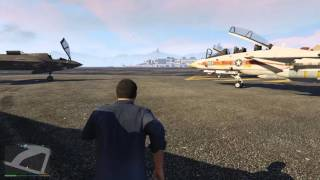 Grand Theft Auto V PC F-14 and F-35 Gameplay! Awesome! 1080P