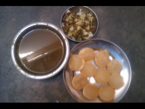HOW TO MAKE GOLGAPPA(PANI PURI)
