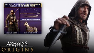 Assassin's Creed Origins - How to Unlock Augilar's Outfit and Weapons (Free Twitch Prime Loot DLC)