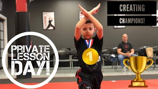 Private Lesson Day: Creating Martial Arts Champions!