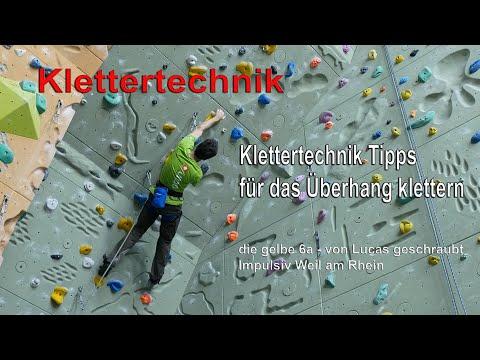 ÜBERHANG KLETTERN - Technik Tipps - Die Gelbe 6a #ImpulsivWeil