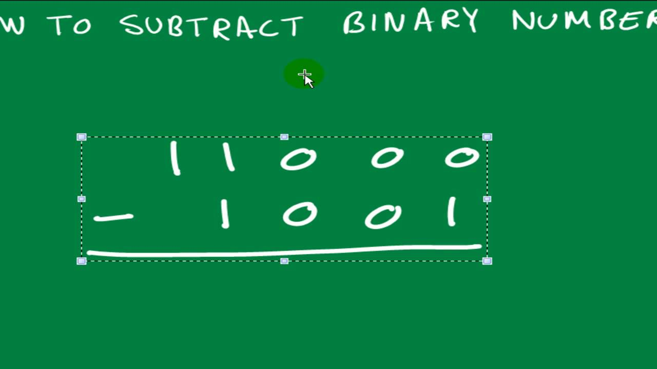 Binary Numbers Subtraction How to Subtract Binary Numbers