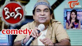 Brahmanandam Shows angry on Cute Trisha - King - Comedy