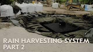 How to Build a Rain Harvesting System with Permeable Pavement - Part 2