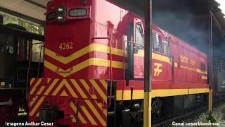 Viagem de trem de Rio Negrinho - SC a Vacaria - RS - 2018 - (Brasil) - Vídeo completo