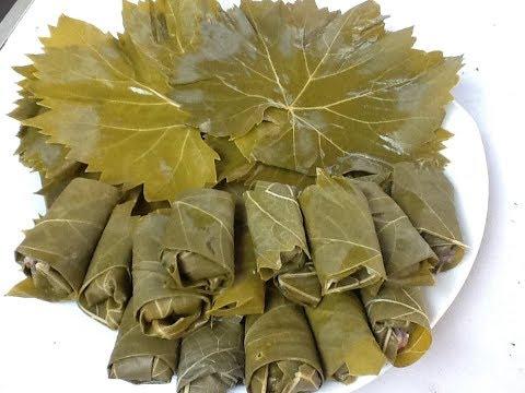 Долма.Баранина в виноградном листе. Азербайджанская кухня.