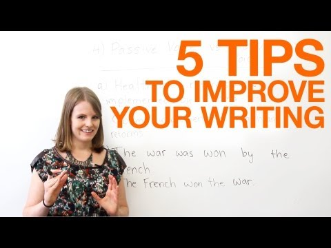5 Tips to Improve Your Writing (12.12)