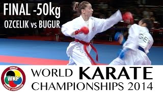 OZCELIK vs BUGUR. Final Female -50kg. 2014 World Karate Championships