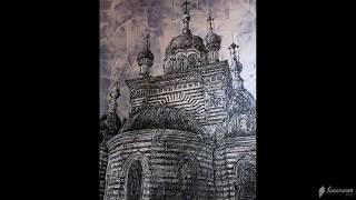 """Серия моих картин """"Православные храмы Крыма""""."""