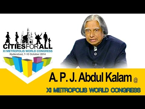 XI Metropolis World Congress 2014 | APJ Abdul Kalam Speech : TV5 News