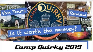 Camp Quirky 2019 - Our Review and Van Tours -  UK Handmade Campervan Festival