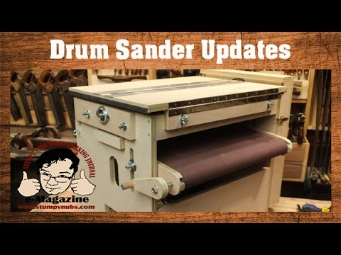 Build A 2-STAGE DRUM SANDER, with LOADS of features! (Updated thickness sander)