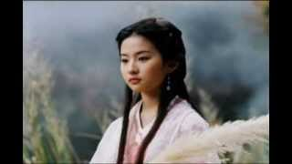 Crystal Liu ' s video clip # 4   ( Music- Chinese romantic love song )