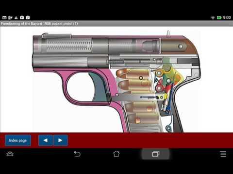 Pieper Bayard pistol Model 1908 explained - Android APP - HLebooks.com