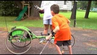 Wheelchair bound 10 year old from Rome competing in Boilermaker 15K