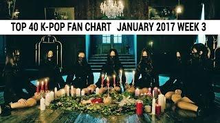 [TOP 40] K-Pop Songs Chart - January 2017 Week 3 Fan Chart