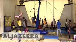 Juggling circus duties with life struggles in Ethiopia