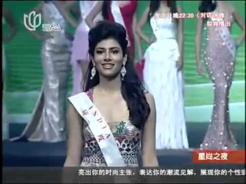 Miss World 2012 Evening Gown India, Vanya Mishra