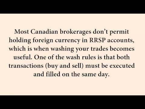 Washing Trades In A Canadian Registered Account