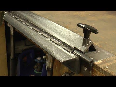 Making An Inset Bench Metal Folder Brake
