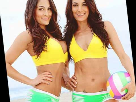 WWE Divas Nikki and Brie Bella the Bella Twins Diva/I Knew You Were Trouble