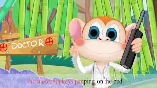5 Little Monkeys Jumping On The Bed Nursery Rhymes (KARAOKE) ★KidsMateTv★
