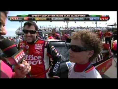 13 Year Old Mclaren Development Driver Santino Ferrucci and Tony Stewart Waktins Glenn.mpg