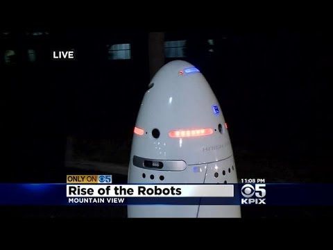 Crime-Fighting Robots Go On Patrol In Silicon Valley