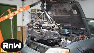 Easy Subaru Engine Removal - Engine Swap or Head Gasket Replacement Part III