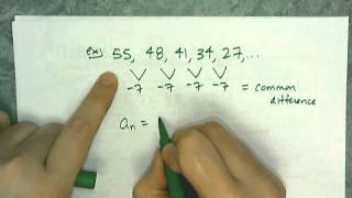 Writing Explicit Formulas for Arithmetic Sequences