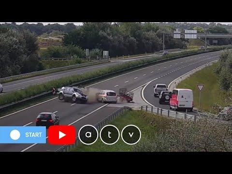 Egészen megdöbbentő baleset történt az M3-as autópályán